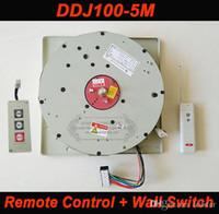 araña para pared al por mayor-DDJ100 5m Auto Control remoto remoto Hoist Chandelier Elevador de iluminación Levantador eléctrico Sistema de elevación de luz Motor de lámpara con interruptor de pared