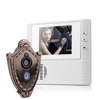 visor de la puerta de la mirilla lcd al por mayor-Cámara de video con pantalla LCD de 2.8 pulgadas Mirilla de timbre Visor de puerta Cámara de seguridad para el hogar Campana de video con cámara