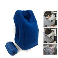 Wholesale Inflatable Mattresses - Outdoor Inflatable Pillows Soft Cushion Portable Travel Pillow on Airplane Innovative Body Back Support Foldable Neck Pillow