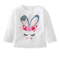 qualität kleine mädchen kleidung großhandel-kleiner Kaninchendruck kleidet Hoodiesqualitätsoberteile für Kinderpullovermädchen-Sweatshirts roupa freies Verschiffen 4OT19
