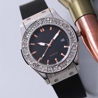 Wholesale geneva rubber watch fashion for sale - relojes AAA watch women Designer luxury brand watch rubber strap diamond bezel classic fusion black day date Geneva Ladies watches clock