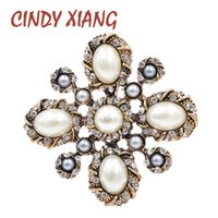 CINDY XIANG 3 Colors Choose Pearl Cross Baroque Brooches for Women Fashion  Vintage Brooch Pin Wedding Coat Accessories Good Gift 45c4b1317e95