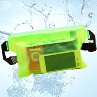 Wholesale waterproof camera plastic bag online - Waterproof Ski Drift Diving Swimming Bag Underwater Dry Shoulder Waist Pack Bag Pocket Pouch for iphone case cover camera