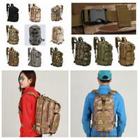 packs de trekking achat en gros de-12styles 3 P Randonnée Camping Militaire Pack Tactique Voyage Sac Sacs À Dos Camouflage sac à dos Cyclisme Extérieur Sacs De Randonnée FFA804 60pcs
