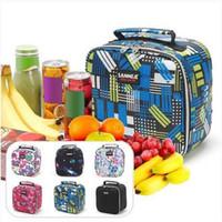 Wholesale thermal coolers resale online - Hot sales Functional Insulated Lunch Box Bag Picnic Zip Pack Waterproof Thermal Cooler Storage Handbag