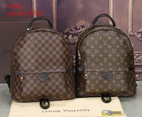Wholesale Back Pack Men - Fashion L Backpack Men Women Suprems Red Black Leather Bags Brand Designer Lous V Back Pack Bag Backpacks Ladies Vutton Sale