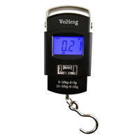 Wholesale electronics gadgets wholesale online - 50kg g Electronic Portable Digital Scale Hanging Hook Fishing Travel Luggage Weight Scale Balance Scales Outdoor Gadgets OOA4986