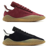 Wholesale raw rubber - New Top Kamanda mens Running shoes Suede Raw rubber Black Red Pink Best Quality Athletics Discount Fashion Sneakers Size 40-45