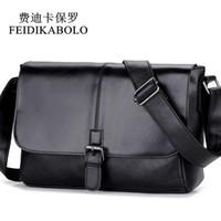 Wholesale Male Handbags Casual - FEIDIKABOLO Designer Handbags High Quality Shoulder Bags Man Leather Bag Casual Men's Messenger Bag Male Crossbody Bags Black