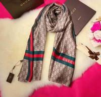 estola al por mayor-Las nuevas señoras de moda de la vendimia de seda larga suave impresa pañuelo mantón bufandas en la primavera y el verano marca de lujo bufanda de las mujeres