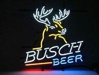 enseignes de bière néon busch achat en gros de-T6 Busch bière Flex Rope tube en verre Neon Light Sign Home Bar À Bières Pub Salle De Loisirs Jeu Lumières Windows En Verre Mur Signes 24 * 20 pouces