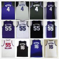 Großhandelsmänner   55 Jason Williams Jersey 16 Peja Stojakovic 4 Chris  Webber Basketball-Jerseys lila schwarze weiße Farbe nehmen  Mischungs-Aufträge an 4b2792cdf