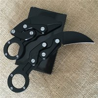 Wholesale best knives for self defense for sale - Group buy Best Morphing knife Mechanical Karambit folding knife claw actical knife outdoor gear camping knives tools Xmas Gift for men