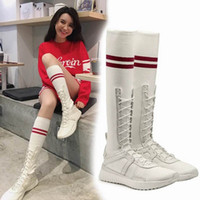 Wholesale high fenty shoe for sale - 2018 Women Rihanna Fenty Trainer Hi Sneakers For Sale Black White High Top Running Shoes