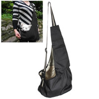 Wholesale black pet carrier - Small Black Oxford Cloth Sling Pet Dog Cat Carrier Bag For Pet Lover Outdoor Travel Hiking