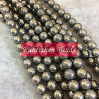 Wholesale NB0057 Trendy Natural Stone High Quantity Pyrite Loose Beads Stone Round Bead Best Jewelry Making Accessory