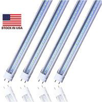 тускло освещенные трубки t8 оптовых-Запас в США Dimmable 4ft 1200mm T8 Led Tube Light High Super Bright Shop Light 22W холодный белый светодиодные люминесцентные лампы AC85-265V