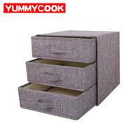 bambus kleidung großhandel-Unterwäsche Schublade Organizer Bra Socken Aufbewahrungsbox Kleidung Kleinigkeiten Bins Wardrobe Closet Home Organisation Zubehör Supplies