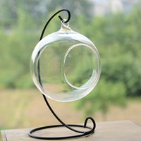 Wholesale wholesale witch balls - Ornament Display Stand Iron Hanging Stand Rack Holder for Hanging Glass Globe Air Plant Terrarium Witch Ball and Wedding Home decor