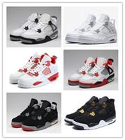 ingrosso dimensione dei pattini di qualità-Nike Air Jordan Retro Shoes 2018 di alta qualità 4 4s cemento puro scarpe da basket soldi uomini donne allevati gioco reale sport sneakers scarpe taglia 36-47