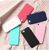 Wholesale candy case silicone online - Simple for New iPhone X iPhone Xs Max XR Xs For Apple cover For iPhone Plus mobile phone shell silicone soft shell scrub TPU candy colo
