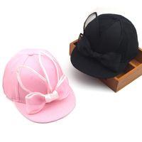Wholesale children rabbit ball hat online - Kids Snapback Caps Children Skateboard Cap Adjustable Girls Outdoor Sports Hats Ball Caps Lace Rabbit Ear