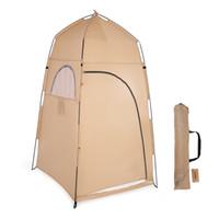 outdoor zelt zimmer großhandel-TOMSHOO Portable Außendusche Badewanne Umkleidekabine Zelt Shelter Camping Beach Privacy WC