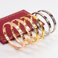 Wholesale Top Brands China - 100% Original Top Brand Fashion Hot sale card buckle Couple Bracelet Wome Men Bangle Love Bracelet Free Shipping