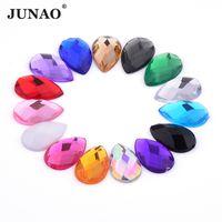 JUNAO 18 25mm Big Size Mix Color Acrylic Drop Rhinestones Flatback Clear AB  Crystal Stone Glue On Strass Beads For DIY Clothes af5e633b29ac