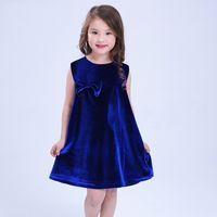 large tutus 2018 - 2018 kids clothes Girls solid velvet ladies skirts large bowknot dress