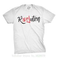 ingrosso migliori camicie maschili-Mens Revolution Love Tshirt Cool Active Activist Tee For Guys Girocollo Camicia in cotone naturale per uomo