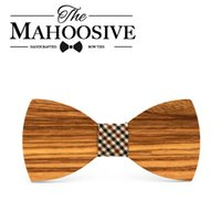 Wholesale fun bow - Mahoosive butterfly men Tie Bow 2017 Fun Personality Wooden Bow Ties Bowtie Butterflies Great Gift wholesale