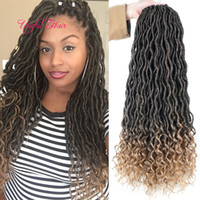 Wholesale ombre marley hair for sale - Group buy faux locs dreadlocks GODDESS LOCS HAIR marley braiding hair Extensions crochet braids Ombre body wave hair weaves Bohemian locks for women