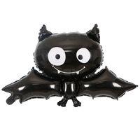 globos de papel negro al por mayor-Caliente 88 cm * 64 cm Negro murciélago de Halloween globo juguetes para niños cumpleaños fiesta globos Niños Halloween Balloon Toys