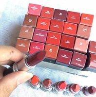 ingrosso serie di qualità-Rouge A Levres Tubo di alluminio Matte Lipstick Lustre 29 Colori Rossetto con numero di serie Marca Russian Red Top Quality