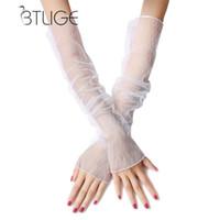 manchons sans doigts achat en gros de-Manchettes Femmes Protection solaire Anti UV Extra Long Lace Manchettes Mode Multi-fonctions Haute Qualité Fingerless Manches Manches