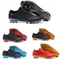 bot futbol markası toptan satış-Ucuz Fly Ultra FG Erkekler Futbol 2018 Yeni Varış Mercurial 5 Renkler EN Kaliteli Marka Orijinal Futbol Çizmeler Boyutu 39-45