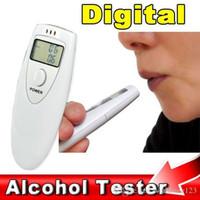 nefes alot test cihazı mini lcd toptan satış-Cep Taşınabilir Mini LCD Ekran Dijital Alkol Nefes Tester Analiz Breathalyzer Dedektörü Test Test araba aksesuarları styling