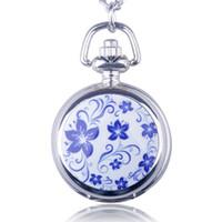 Wholesale Lady Beautiful Watch - Fashion Beautiful Light Flower Small Size Quartz Pocket Watch Pendant Necklace Women Ladies Men Gifts Watch