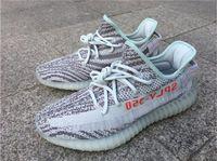 Wholesale Fluorescent Shoe Laces - Originals New Boost 350 V2 Blue Tint B37571 Sply 350 Fluorescent green Zebra Men Women Running Shoes Sport Kanye West Beluga 2.0 350 Boosts