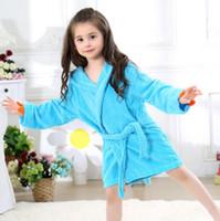 Wholesale dinosaur pajamas - Baby Bathrobes Cartoon Hooded Towel 5 Color 50-60cm Spring Dinosaur Swimwear Soft Pajamas 2-5T EEA182 50pcs