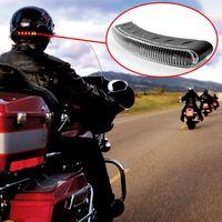 cascos de orden al por mayor-8 LED 2.4G Moto universal inalámbrico Freno y Luz de señal de giro Luz de advertencia Casco Lámpara Accesorios para motocicletas