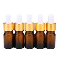 Wholesale Cobalt Perfume - Essential Oil Glass Bottle Cobalt Brown Perfume Glass Bottles with Glass Eye Droppers 5ml 10ml 15ml 20ml 30ml 50ml 100ml Free Shipping