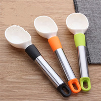 Wholesale ice cream scoop plastic - Creative Ice Cream Spoon Plastic ABS Fruit Watermelon Scoop Not Easy To Deform Kitchen Accessories Durable 3 6jd VB