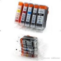 Wholesale pixma ink cartridges - 5pcs ink cartridge for Canon PIXMA Printer MP500 MP510 MP520 MP530 MP600 MP600R MP610 MP800 MP800R MP810 MP830 MP950 MP960 MP970 PGI5BK CLI8
