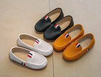 Wholesale leather loafers toddlers - Children's Shoes Slip-on Loafers Flats Spring Autumn Fashion Boys Sneakers for Toddler Little Kid Big Kid