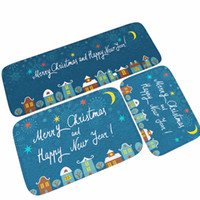 Wholesale bathroom mat grippers for sale - Group buy 40 cm Christmas Decoration Gifts Print Bath Mats Soft Water Absorption Rugs Carpets Grippers Non Slip Mat For Living Kitchen Room