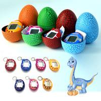 Wholesale plastic kids egg shapes resale online - Colorful Egg Shape Virtual Cyber Digital Pets Electronic Digital E pet Retro Funny Toy Handheld Game Pet Machine for Kid Gifts