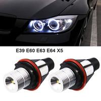 Wholesale angel eyes bulbs for sale - 2pcs LM Angel Eyes Car LED Halo Ring Marker Bulbs Light W K White for BMW X5 E39 E53 E60 E63 E64 CLT_60A