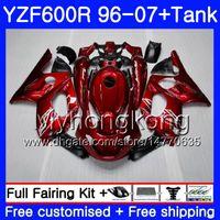 ingrosso 98 yamaha-Corpo + serbatoio per YAMAHA Thundercat YZF600R 96 97 98 99 00 01 229HM.0 YZF-600R YZF 600R 1996 1997 1998 1999 2000 2001 Carena Gloss Factory rosso